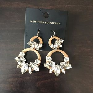 Black and gold New York and Company earrings.